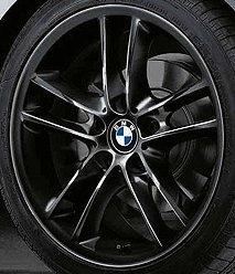 Cerchi in lega originali a doppi raggi, per ruote anteriori di 18 pollici di BMW Serie 1E81E82E87E88