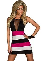 SeXy Minikleid Damen-Kleid aus Schleife Ideal als Abendkleid Kleid-Abend-Party Clubwear Rock Mini-Rock