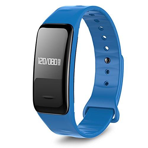 Atlanta Fitness Tracker mit Herzfrequenz GPS Pulsmesser Blutdruck Blutsauerstoff Schrittzähler Smartwatch Armband Uhr 9701 (Blau)