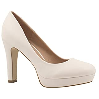 Elara Moderne Damen High Heels | Stiletto Schuhe | Plateau Pumps | Chunkyrayan E22321-Weiss-40