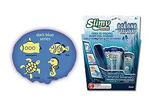 Slimy Creations Océano Profundo Slime Coleccionable, Color Azul Oscuro/Aguamarina (Fábrica de Juguetes 41310)