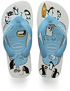 Havaianas Top Play, Chanclas para Unisex Niños, Blanco (White), 33/34 EU (31/32 Brazilian)