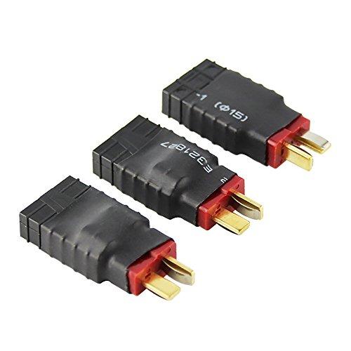 OliYin 3 stücke Männlichen Deans zu Weiblich TRX Traxxas Stecker Wireless Adapter für RC Ladegerät(packung 3) (Traxxas-stecker Für Ladegerät)
