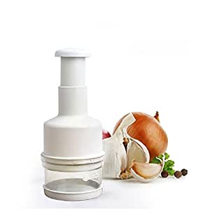 En plastique pour oignon Ail Hachoir à légumes manuelle Kitchaid inox lame hachoir Coupe-pression  1