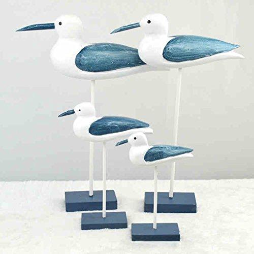 Möwe Ornament (Kreative Haushalt Holz Handwerk Stil Vogel Tier Möwe TV-Schrank Dekorationen Ornamente)