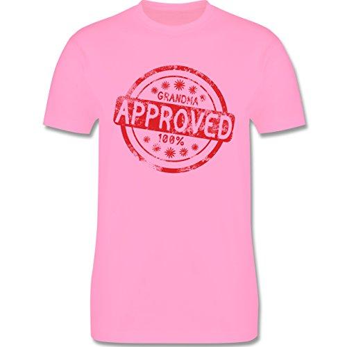 Großeltern - Grandma approved - L190 Herren Premium Rundhals T-Shirt Rosa