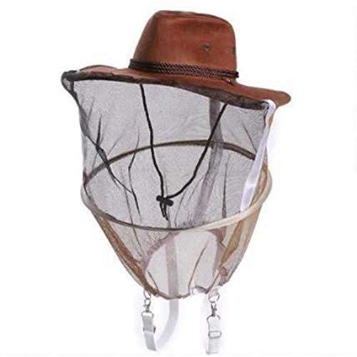 c530c49b9b5 NANAD Sombrero de Apicultura Anti Mosquitos Protector Cowboy Professional  Full Face Cover Insecto Senderismo Caza Pesca Práctico Cuello Wrap Net Veil