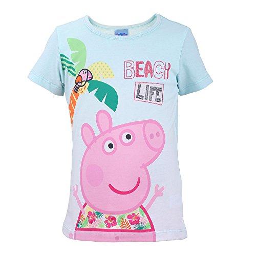 Peppa Pig Niñas Camiseta, T-Shirt, Menthe, Talla 92, 2 años