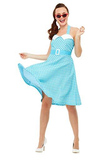 Jahre Idee Kostüm 50er Up Pin - Smiffys 47785M 50er Jahre Pin Up Kostüm, Damen, Blau, M - Größe 38-42