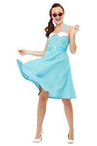 Smiffys 47785M - Disfraz de los años 50 para mujer, talla M, color azul
