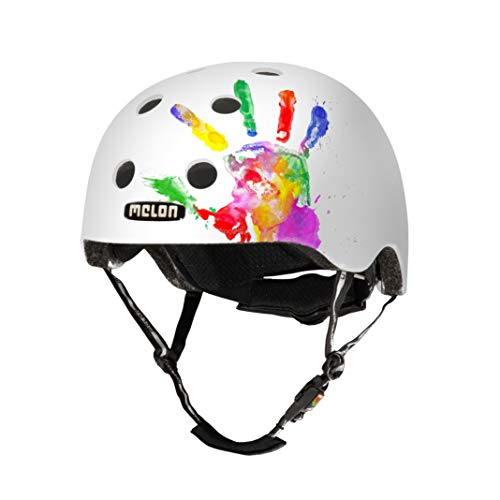 Melon Urban Active - Casco de Ciclismo Multiuso, Color Blanco, Talla Size 46-52