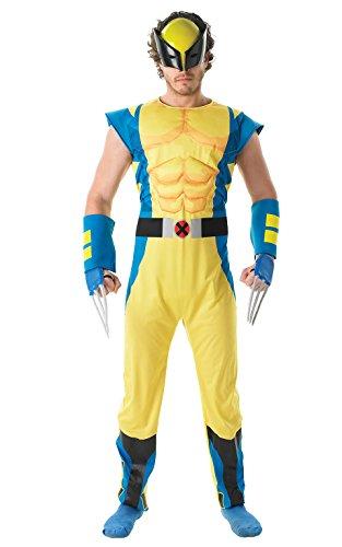 Kostüm Krallen Wolverine Für Erwachsene - Rubie's Offizielles Marvel Wolverine-Kostüm für Erwachsene, Standardgröße,Deluxe-Qualität