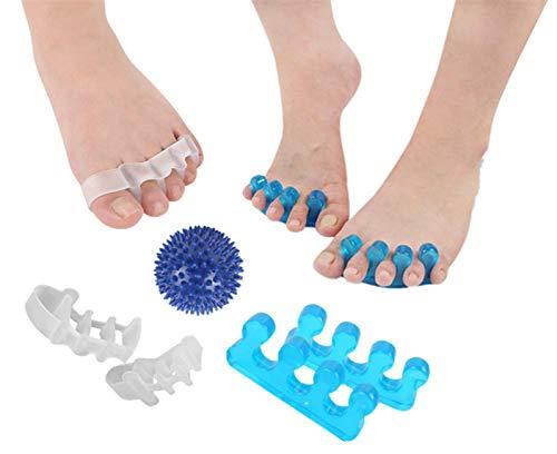 Zehenspreitzer Spacer Splint, Bunion Corrector und Relief Hallux Valgus Zehenspreizer für Hummerzehen, Fußmassageball 3 in 1 -