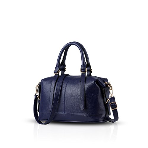 Nicole&Doris borse di modo casuale -retro- borsa tracolla Messenger Bag donna(Purple) zaffiro
