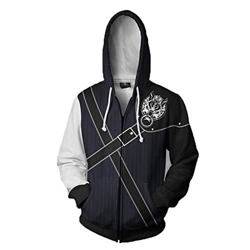Strickjacken & Sweatshirts Sanitärkleidung Final Fantasy Bedruckte Strickjacke Und Hoodie Rollenspiel Kostüm Final Fantasy 2 M