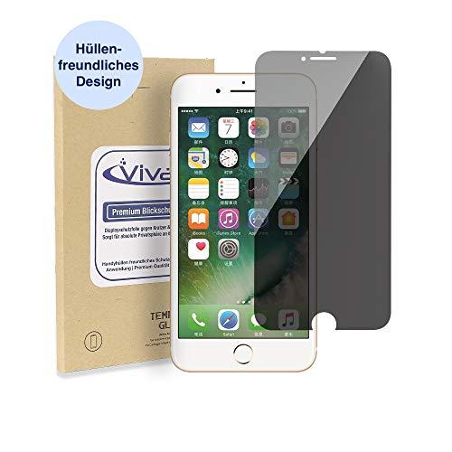 Vivati Blickschutzfolie Privacy Panzerglas für Apple iPhone 6 Plus, Helle Sichtschutz Version, 9H Hartglas, Anti Spy Sichtschutz Folie, [Hüllen kompatibel], [Blickschutzfilter]