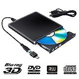 Externe Blu Ray DVD Laufwerk 3D, USB 3.0 USB Type C Bluray CD DVD RW Rom Player Tragbar für PC MacBook iMac Mac OS Windows 7/8/10/Vista/XP