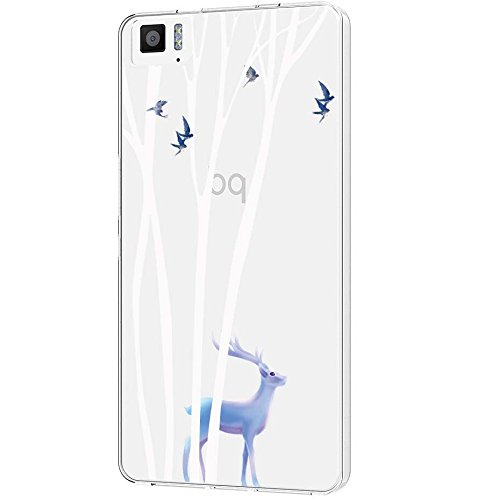 Langlee BQ Aquaris 5 m M 2017 5,5 Zoll Hülle, Transparent Soft Flex Silikon Schutzhülle TPU Case Crystal Clear Handyhülle Kratzfest Bumper für BQ Aquaris M 2017 (Design Nr. 15) + Freier Stylus