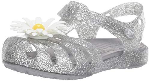 crocs Unisex-Kinder Isabella Charm Sandal K Clogs, Silber (Silver 040.), 30/31 EU