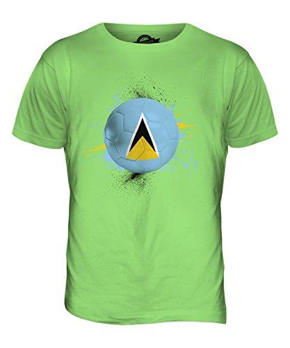 CandyMix St. Lucia Fußball Herren T Shirt Limettengrün
