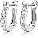 1Pair Flower Earring Fashion Women Ladies Rhinestone Ear Stud Earring