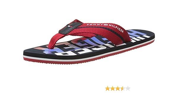 c1e635dde Tommy Hilfiger Men s Bold Hilfiger Beach Sandal Flip Flops  Amazon ...