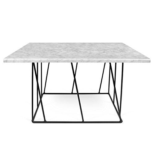 Paris Prix - Temahome - Table Basse Helix 75cm Marbre Blanc & Métal Noir