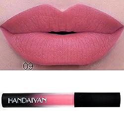 9th Avenue 09: 12 Colors Lip Tint Matte Red Lip Liquid Lipstick Cosmetics Stick Nude Gloss Lip Beauty Waterproof Moisturizer Makeup Lip Colors