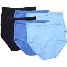 Socks Uwear 6pk Mens Classic 100% Cotton Y Style Front Briefs Underwear