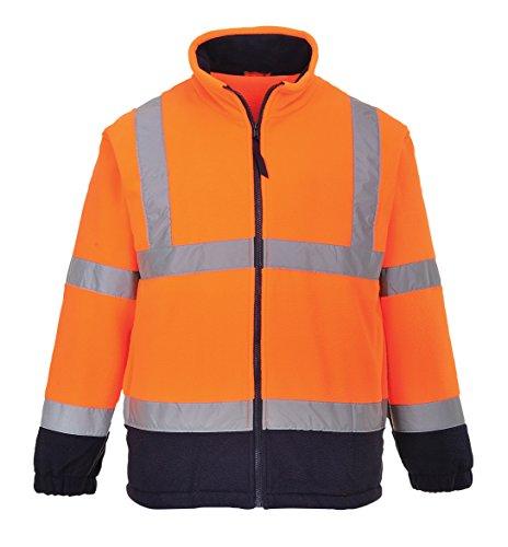 PORTWEST Fleemit Anti-Pilling-Ausrüstung, 300 g, 100% Polyester, 1 Stück, L, orange/marine, F301ONRL
