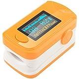 Denshine - Nuevo color OLED oximetro de pulso de dedo con alarma audio y sonido pulso- saturación de oxígeno monitor de oximetro de pulso/oximetro de dedo (naranja)