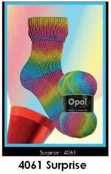 Tutto-Opal Opal Sockengarn Surprise, Farbe 4061, Sockenwolle Regenbogen, 100 Gramm