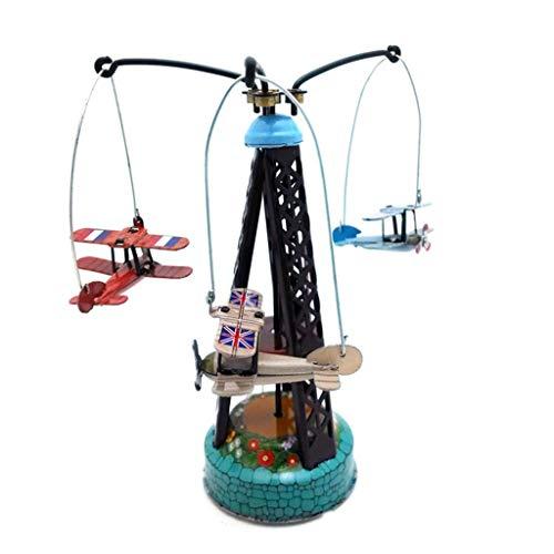 ug Weißblech Uhrwerk Kette Spielzeug Fotografie Prop Rotary Flugzeuge MS264 ()