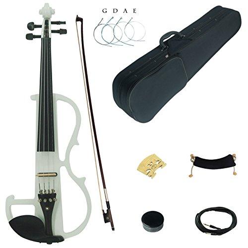 assivholz Fortgeschritten Elektrische Violine Geige Set mit Ebenholz Beschläge (DSG1802) (Violin Bow 1 8)