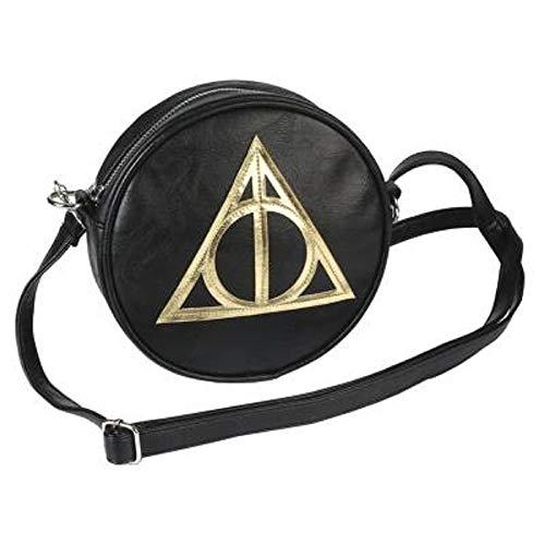 Harry Potter Scherzt Geschenke | Runde Umhängetasche, Kreis Mit Reißverschluss | Geburtstagsgeschenke Für Fans Merchandising Mit Offizieller Lizenz (Heiligtümer des Todes)