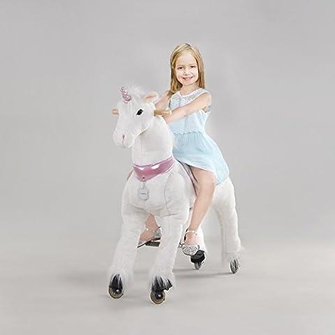 UFREE Action Pony, caballo mecánico de juguete de tamaño grande, montar, botar arriba y abajo, altura 44