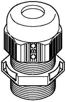 Preisvergleich Produktbild obo-bettermann System conex. IJF.–Leitungseinführungen v-tec-vm M20hellgrau