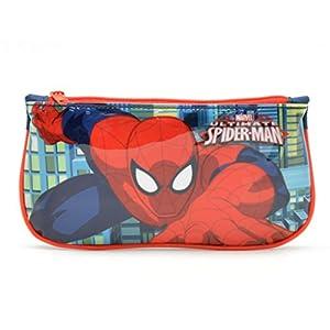 Spiderman Estuche Tela Plano, Multicolor, 22×12