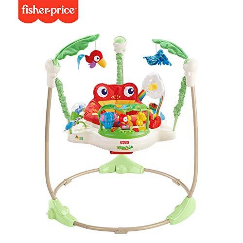 Fisher-Price K7198 Rainforest Jumperoo Baby Hopser mit Spielzeugen höhenverstellbar, max. 12 kg / 81 cm