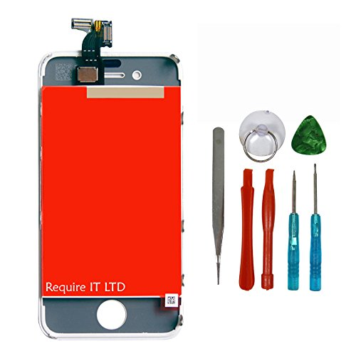m Touch Digitizer für weiß iPhone 4S A1387 + Tools ()