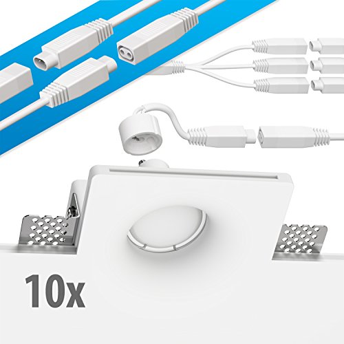 ledscom.de Yeso Foco empotrables GIDS DIY Incluido GU10 Bombilla 340lm Blanca cálida...