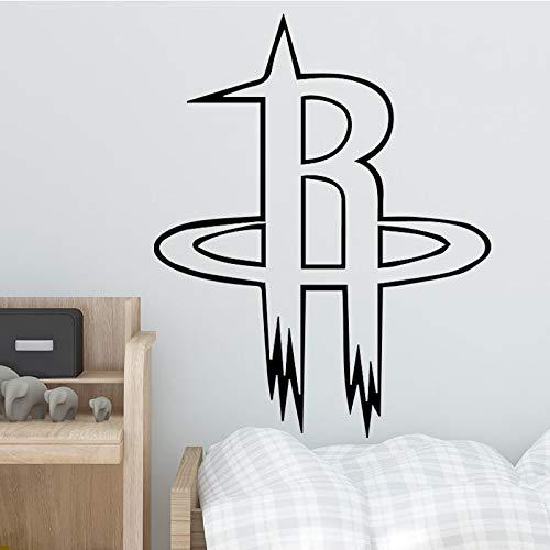 zxddzl Basketball Team Design Wandaufkleber für Wohnkultur Wohnzimmer Dekoration Jungen Schlafzimmer Zubehör Wandtattoo Remvoable Decor-92x75cm