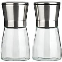 B.PRIME Set de 2 moulins à sel et Poivre manuels Classic - Broyeur en céramique