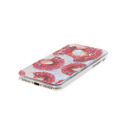Apple iPhone 7 Plus Copertura Cover, Acqua liquida nuoto in plastica trasparente duro Shell iPhone 7 Plus Custodia Case 5.5 [ rosa ] Shock Anti-Shock Graffi # 1