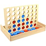 TOYMYTOY 4 In A Row Wooden Game Line Up 4 Classic Board Game For Kids And Family Fun Toys