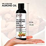 POP (Potions of Paradise) Almond Oil for Skin, Hair and Culinary Use, 100 ml