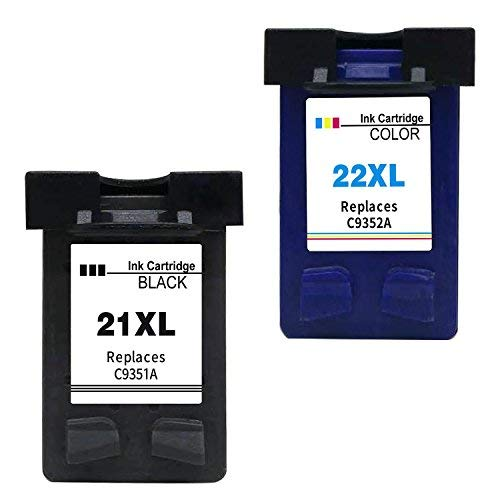 Ink Seller 2 Compatible Ink Cartridges for HP 21 XL HP 22 XL Compatible Ink Cartridges