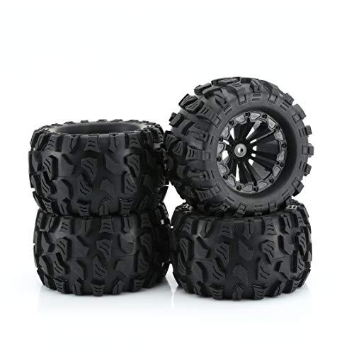 Candybarbar ZD Racing New 4PCS 1/10 Monster Truck Big Foot Truck Pneumatici e Ruote Giocattolo Ruota per HPI per HSP per Savage XS per TM