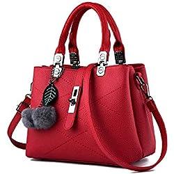Sipobuy 2019 New Wave bolsos de mujer Messenger Bag Ladies Shoulder Tote bolso femenino para mujer, rojo
