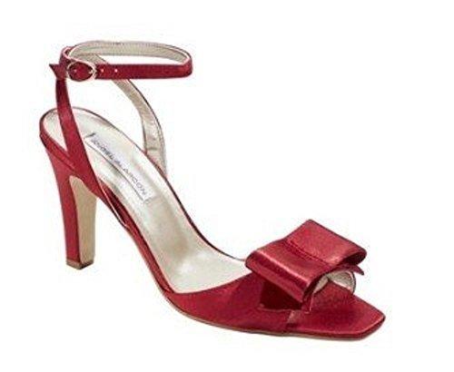 Sandalo Chillany Realizzato In Tessuto / Pelle In Rosso Rosso